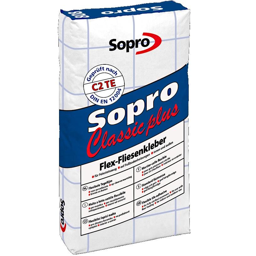 Tegellijm Sopro Classic Plus 808 25kg