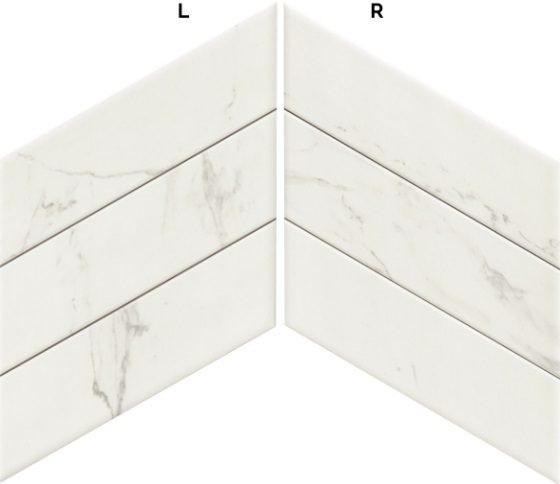 Diamond Calacatta Chevron (L-R) 40×70